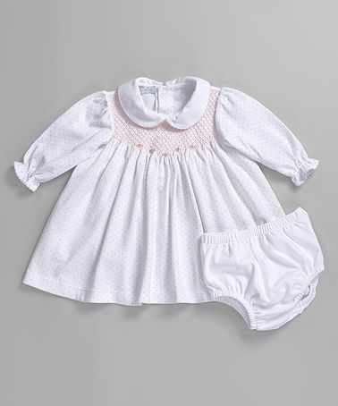 Another great find on #zulily! Pink Dot Sissy Smocked Dress & Diaper Cover #zulilyfinds