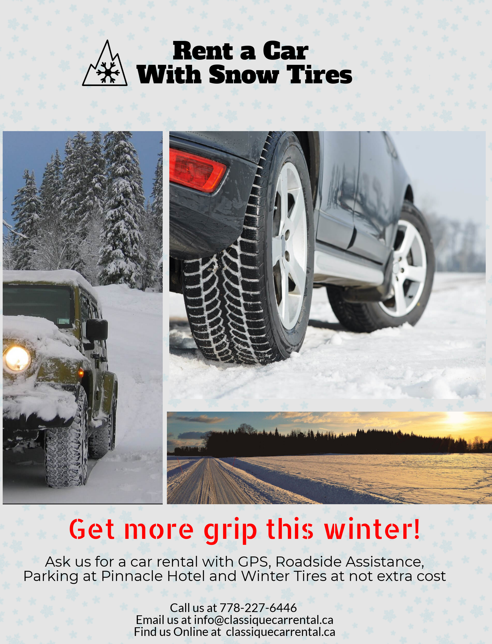 Winter Tires Vancouver >> Get More Grip This Winter Get A Car With Real Winter Tires Www
