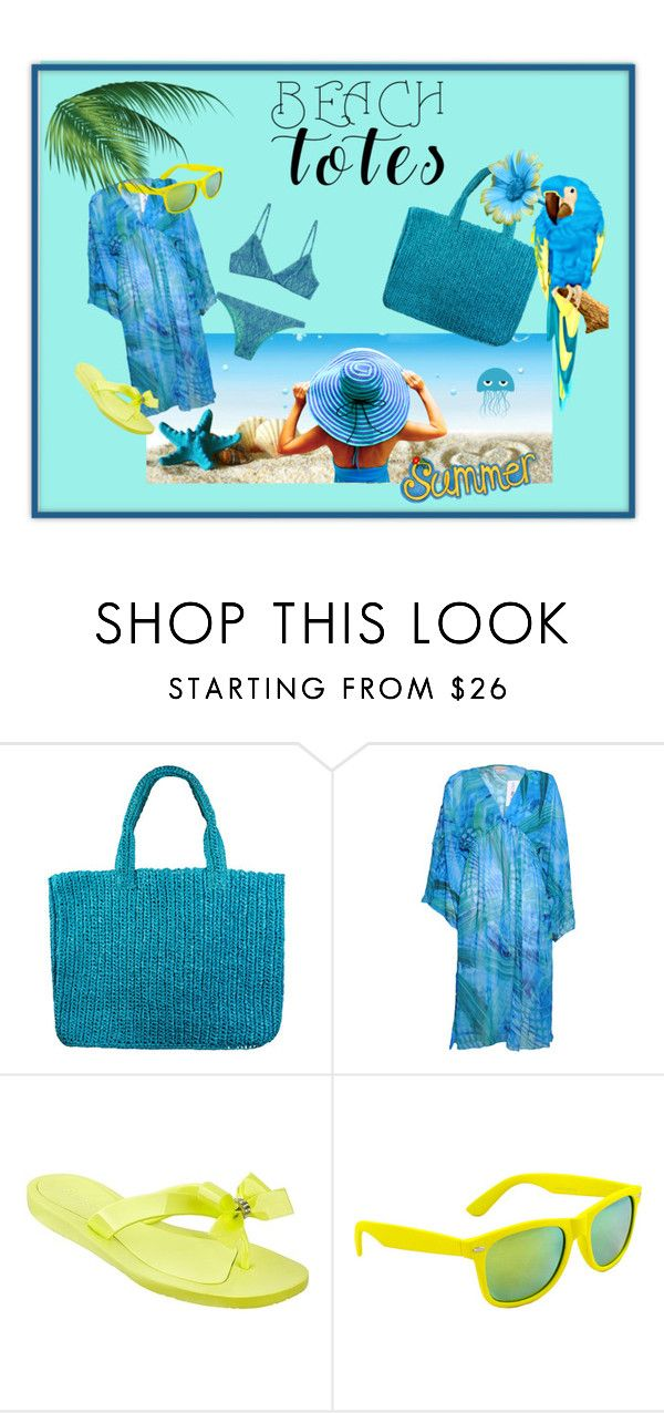 """""""Beach Totes"""" by marina-savelyeva ❤ liked on Polyvore featuring Lea Gottlieb, GUESS, SWG and beachtotes"""