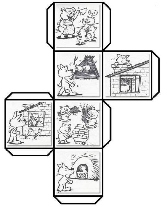 Have students color, cut, fold, and paste to make a story