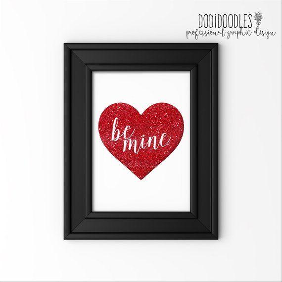 ed4f392b7 THRU 3/30 ONLY be mine, heart print, sparkle sign, glitter print ...