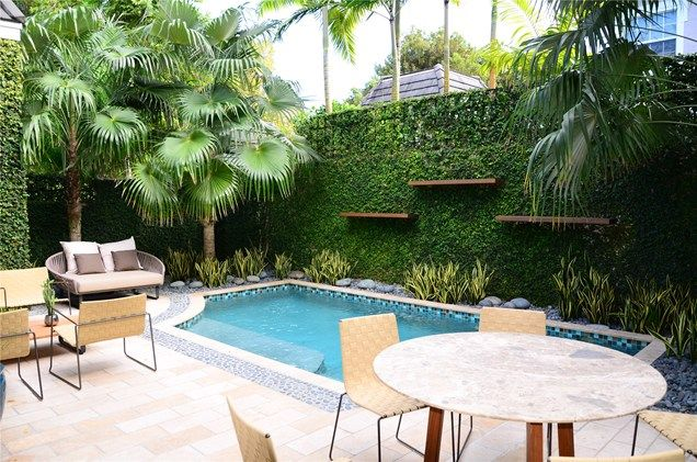 Small Pool Splash Swimming Lewis Aqui Landscape Architectural Design Llc