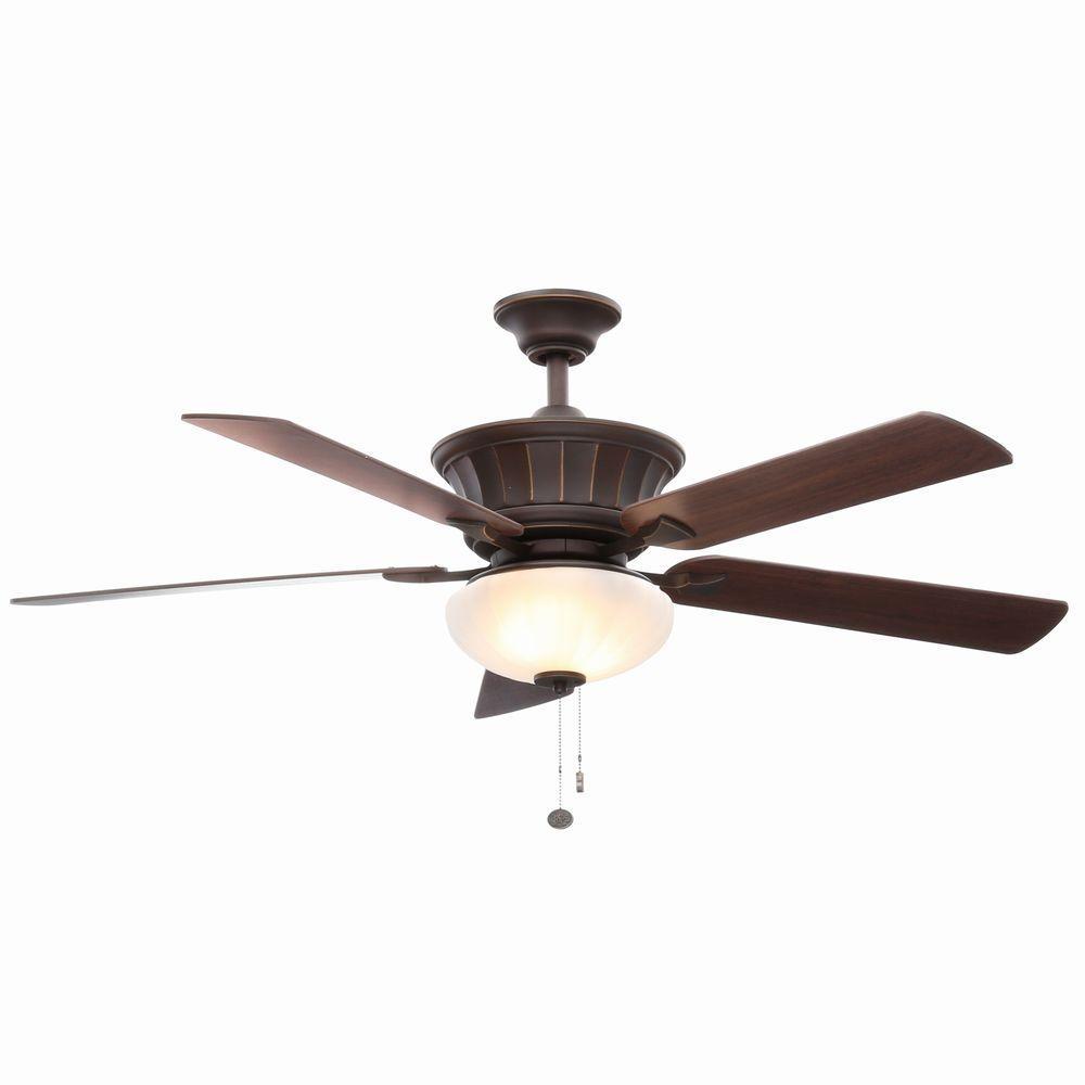 Hampton Bay Edenwilde 52 In Indoor Oil Rubbed Bronze Ceiling Fan
