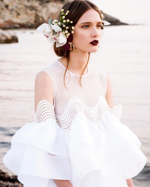 Greek fashion designer Christos Costarellos debuted his new Spring 2017 collection at Bridal Fashion Week. Check out all of the designs here.