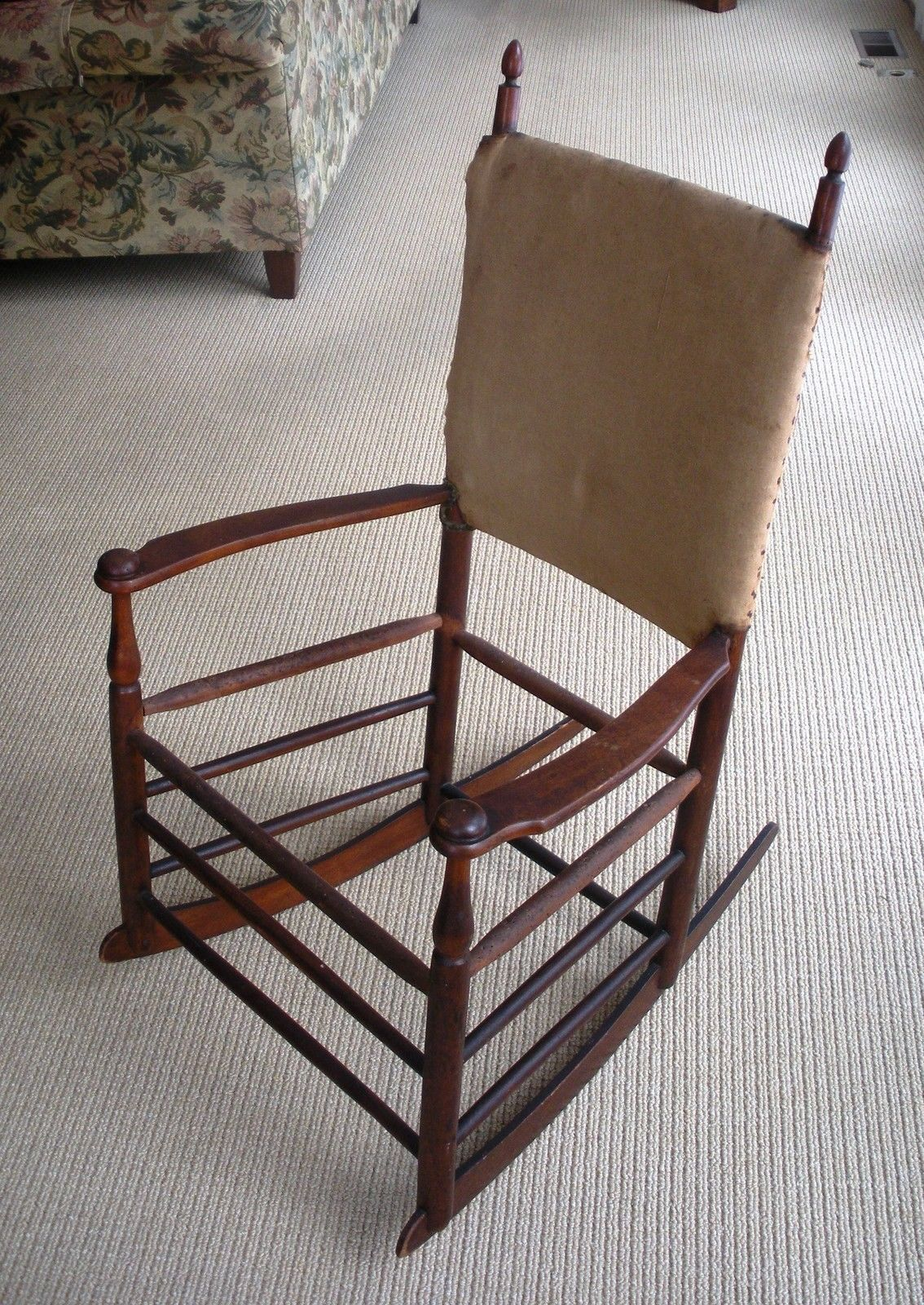 Shaker Rocking Chair w Arms MT Lebanon NY Antique 1880 ...