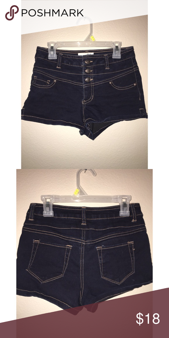 High Waisted Booty Shorts High waisted || brand new || no tags || 3 buttons || small back pockets || fits size 0 and 1 Shorts Jean Shorts