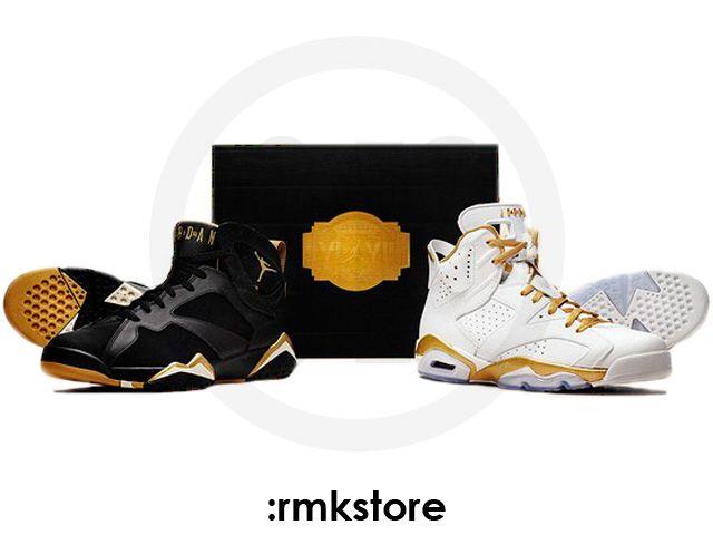 sale retailer 83073 e8dd0 Nike Air Jordan 6 VI 7 VII Retro Olympic Gold Metal Golden Moment Pack -  RMKstore