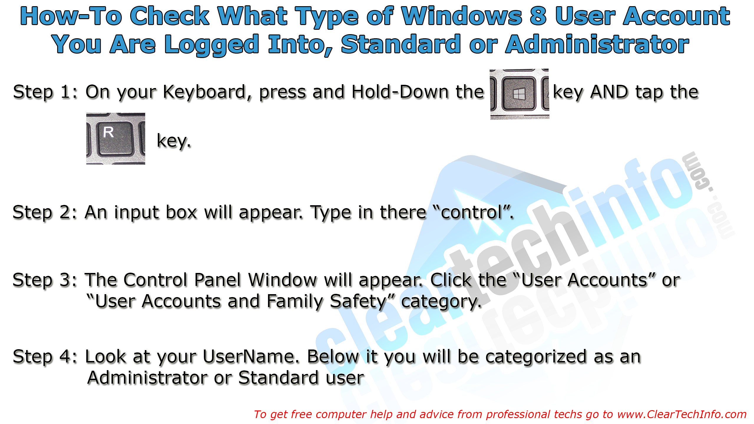How to check what type of user you are logged in as standard or how to check what type of user you are logged in as standard or baditri Images