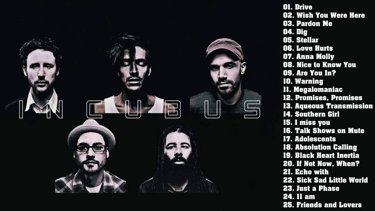 Incubus Songs List Cool incubus greatest hits - best incubus songs   music mad   pinterest