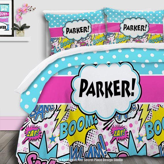 Personalized Bedding For Girls Comforter Set Girls Superhero