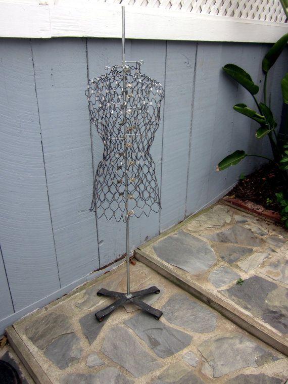 Vintage industrial metal wire MANNEQUIN dress by welovelucite ...