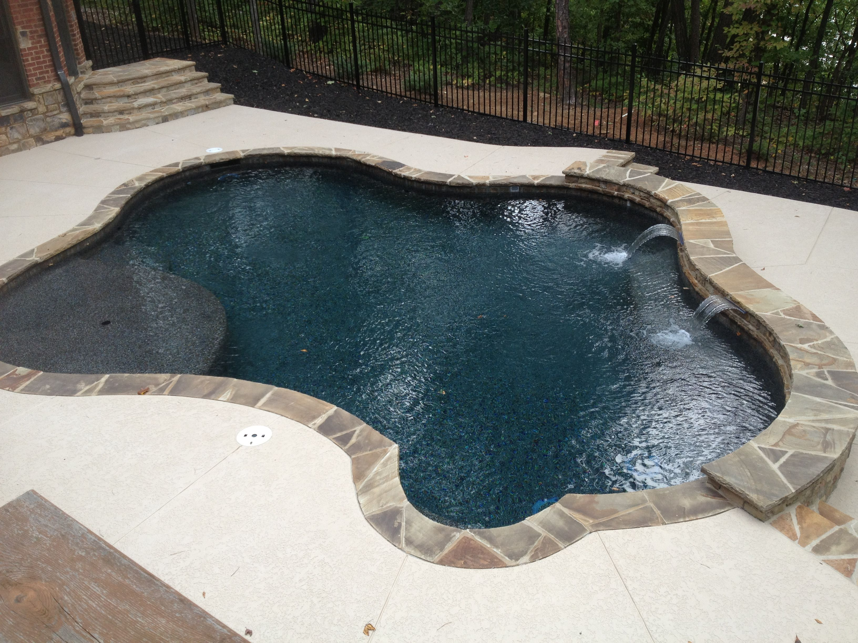 Black Marble Pebble Tec Rcs Pool And Spa Gunite Pools Pinterest Marbles Backyard And
