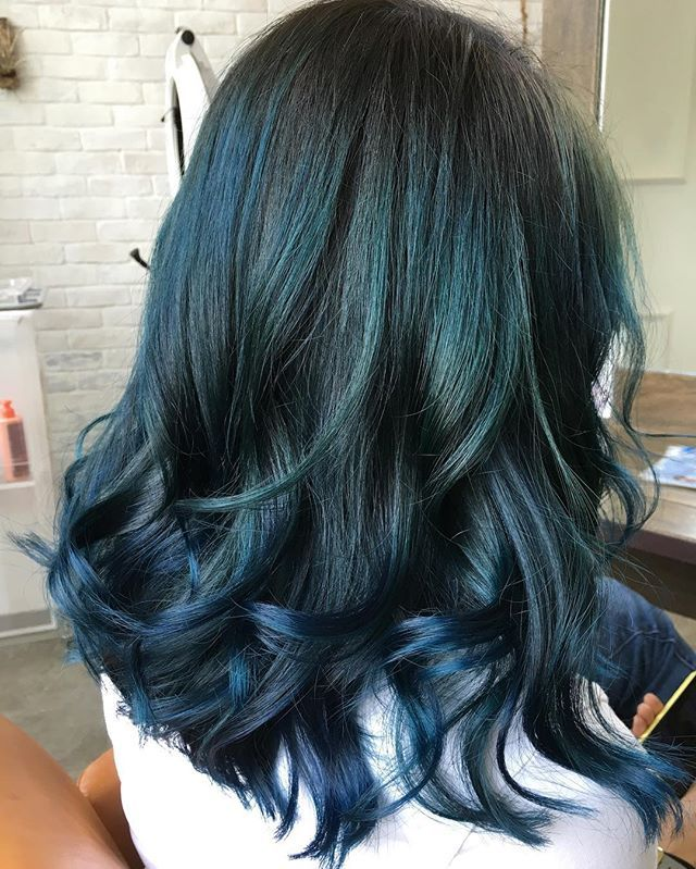 Midnight Teal Hair Color at Number76 Publika, Malaysia.