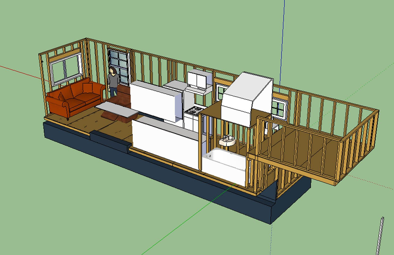 Tiny House Gooseneck Trailer House Decor Ideas Tiny House Layout Tiny House Design House Layouts