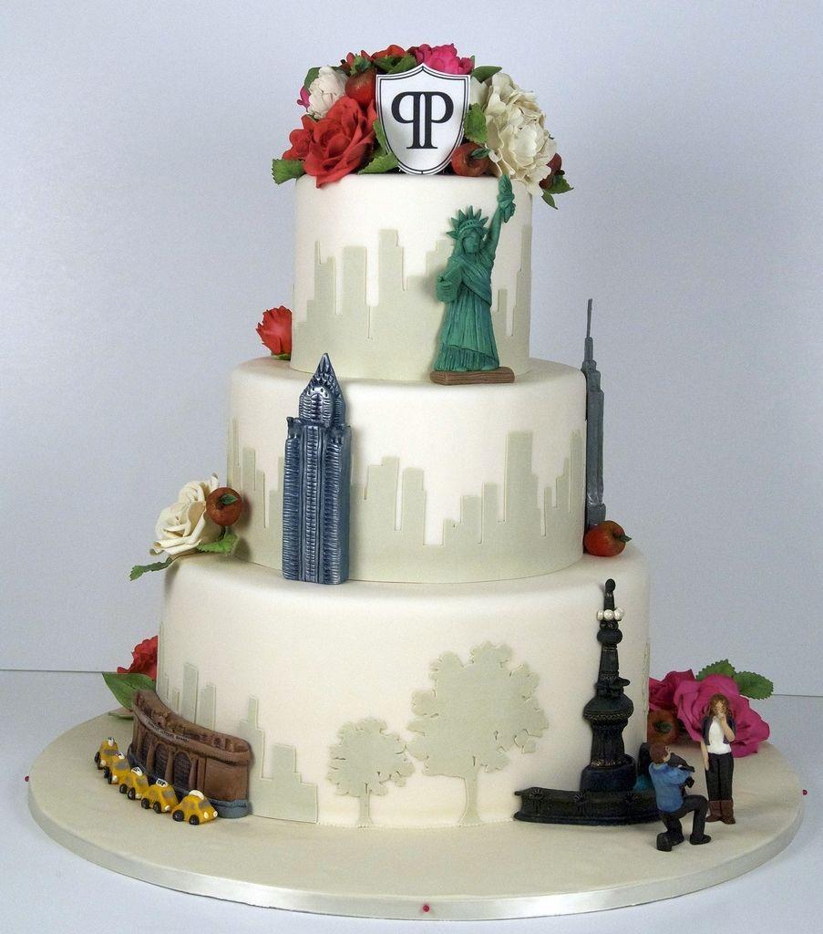Niedlich New York Themed Wedding Cake Fotos - Brautkleider Ideen ...