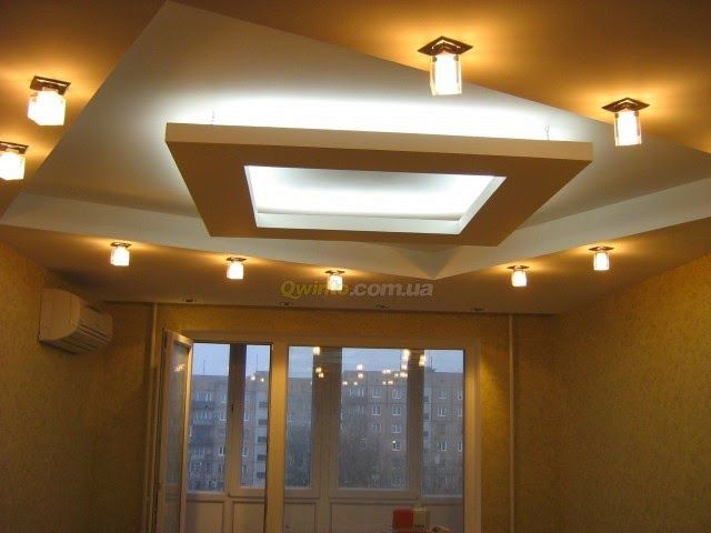 Plasterboard False Ceiling Designs With Hidden Ceiling Lights For