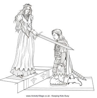 Knight Colouring Pages Coloring Pages