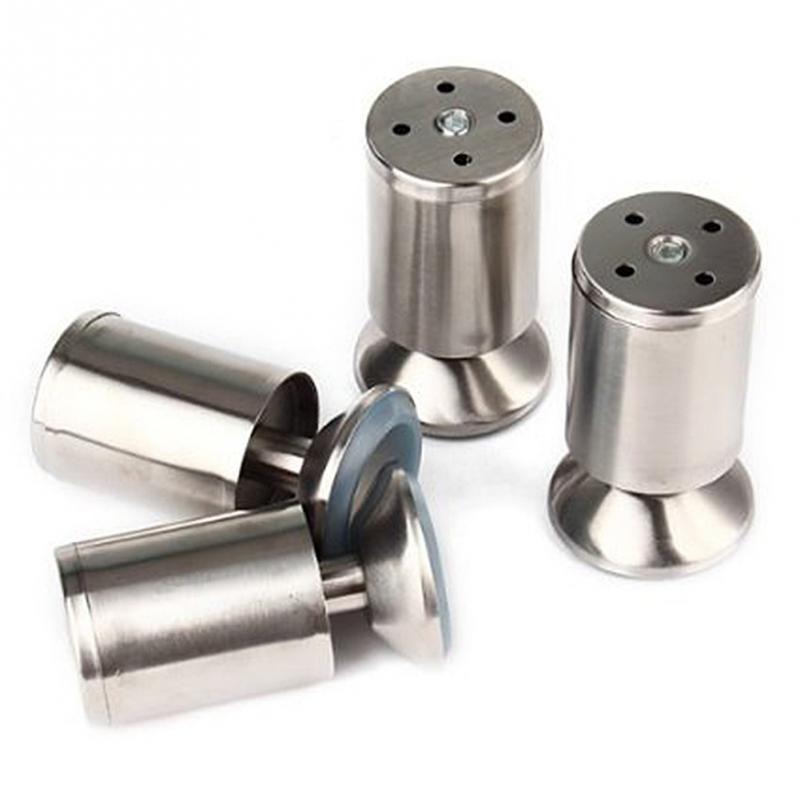 4 teile/paket Edelstahl Küchen Einstellbare Höhe Möbel Bein Silber - küchen aus edelstahl