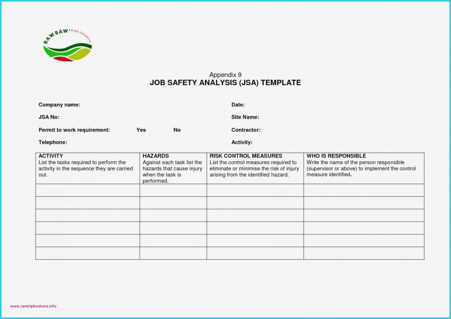 Job Hazard Analysis Form New Safety Analysis Report Template Image Safety Analysis Report Template Excel Book Report Templates Report Template Templates