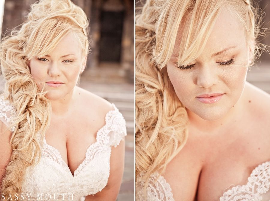 Plus Size Bride Curvy Beauty Blonde Bombshell Kat Roll Fairy Tale Rapunzel The Sassy Princess Wedding Series Ii Sassy Mouth Photography