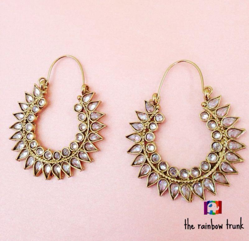 Dazzling sun inspired balis: The Rainbow Trunk: Buy Jewellery Online
