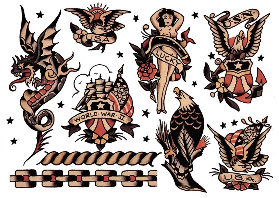 Sailor Jerry, Flash Sheet, T Shirt Design. Vulture Graffix ...