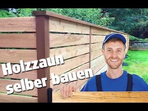 Gartenzaun selber bauen Sichtschutz Zaun aus Holz aufstellen - gartenzaun holz selber bauen