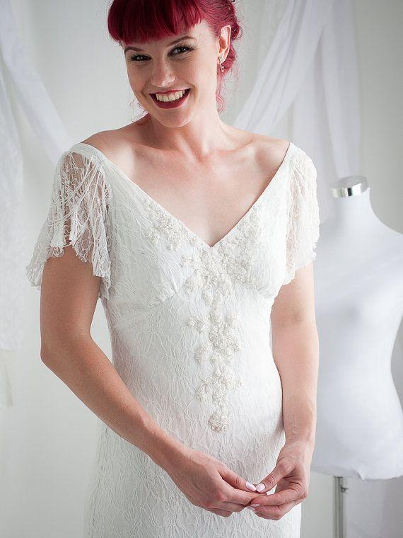 Boho wedding dress, lace bohemian wedding dress, long beach dress, island wedding, lace backless beach, bohemian bridal, hippie wedding drs