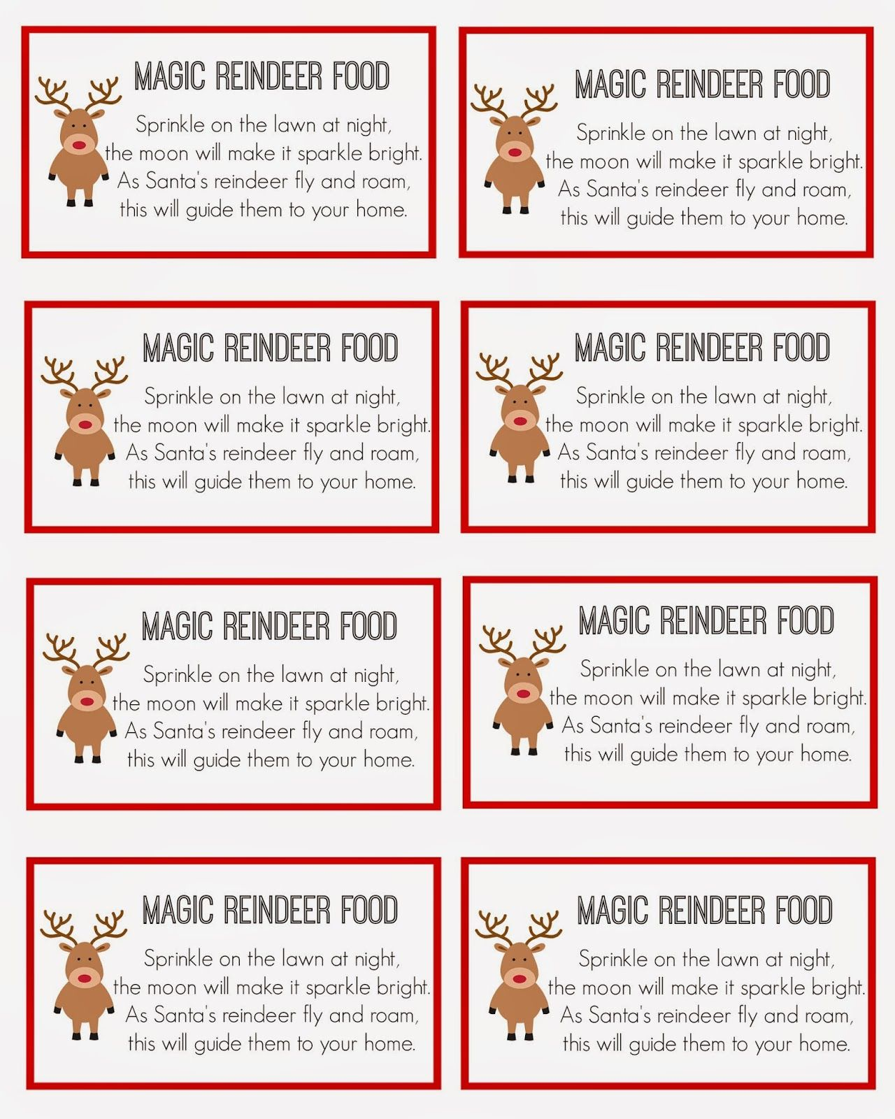 photo relating to Reindeer Food Labels Printable identify Magic Reindeer Meals Xmas Magic reindeer meals