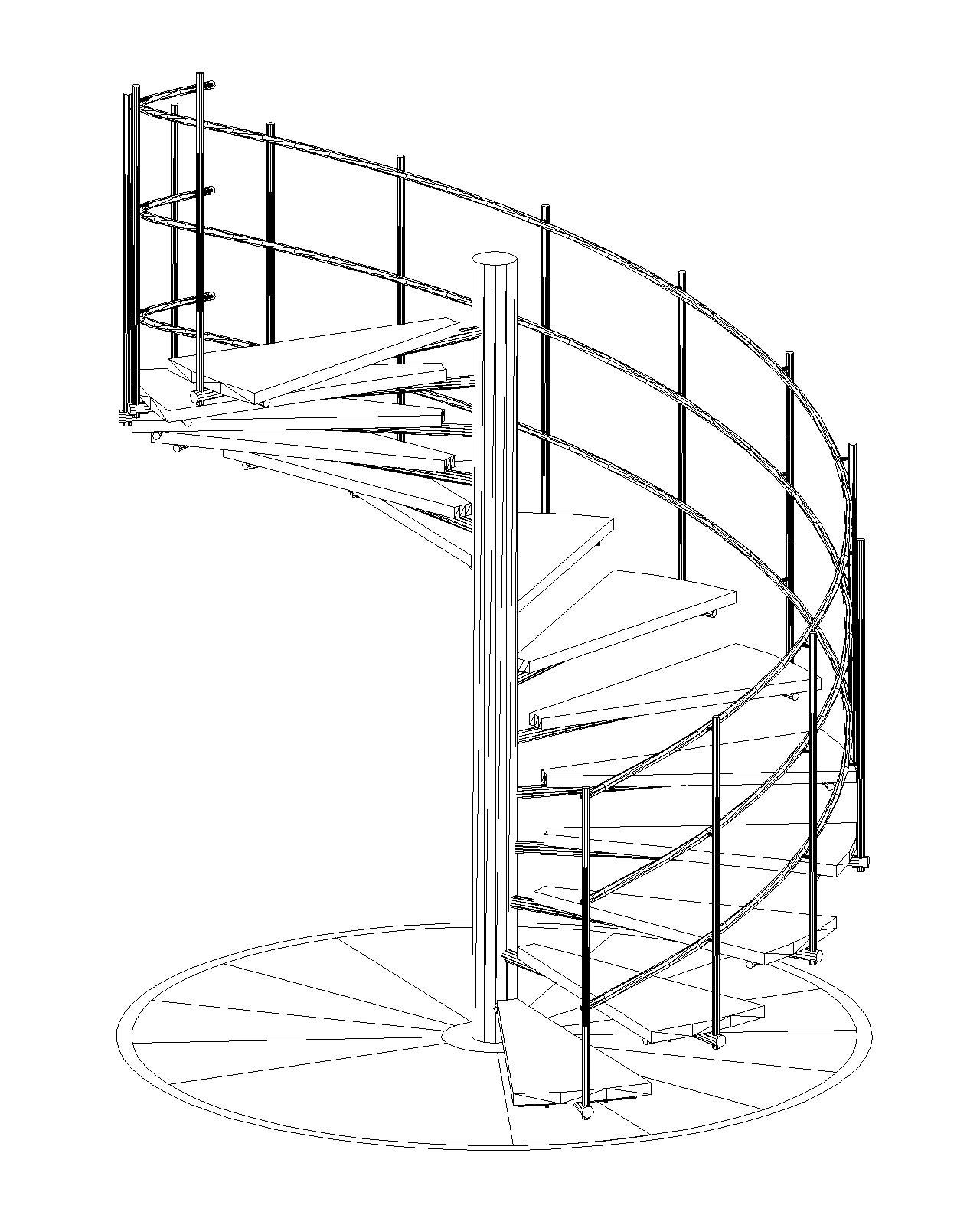 Ejercicio 8 escalera caracol propio escaleras for Escalera caracol 2 pisos
