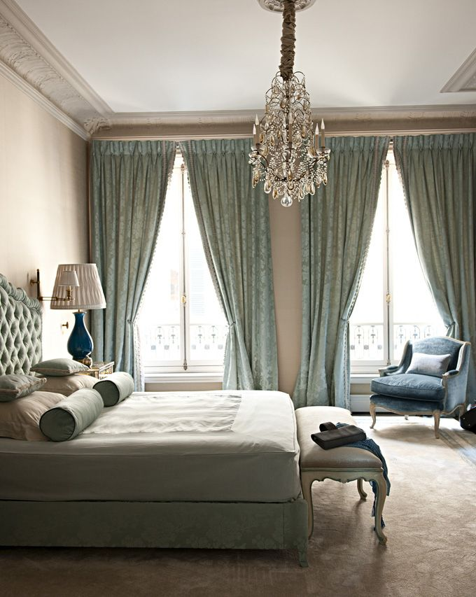 Elegant Bedroom   Love These Serene Colors, But Would Need A Fan For Summer