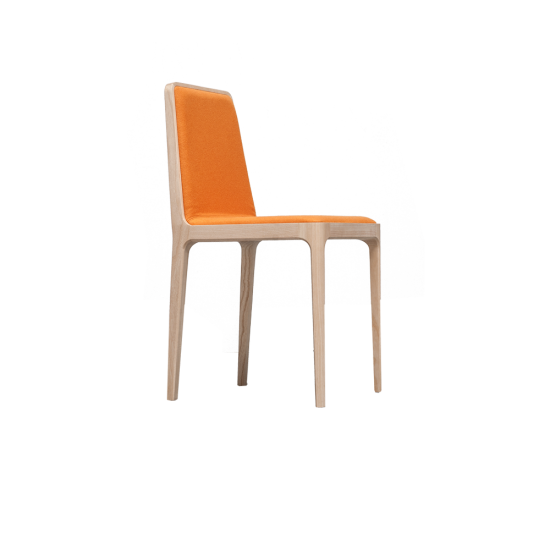 Tip Tap by #claudioperin  Chair with seat and back upholstered and covered with fabric or leather.Structure in beech wood. All elements in wood are connected, the chair does not have connections to corner.  #tekhne