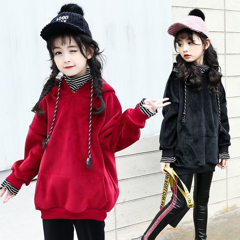 0a743108240b Children Hoodies Baby Girls Clothing 2017 New Winter Thickened ...