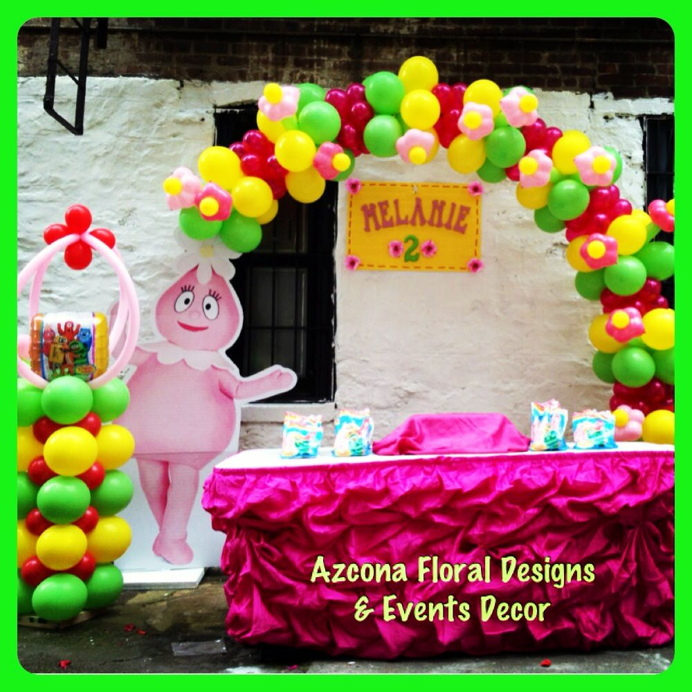 Foofa's Birthday theme decor - Yo Gabba Gabba :-)