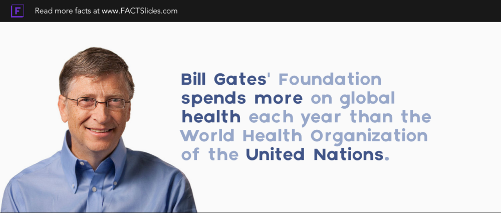 Bill Gates Foundation Spends More On Global Health Each Year Than The World Health Organization Of The Health Organizations World Health Organization The Unit