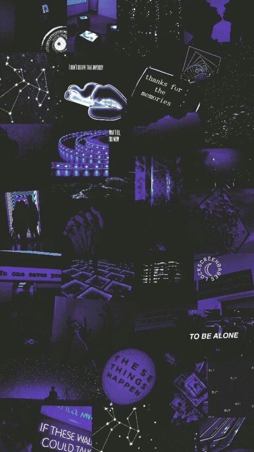 Aesthetic Black And Purple Artistic Desktop Hd Wallpapers In