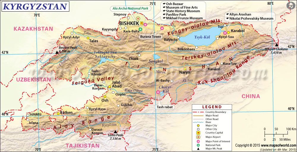 Kyrgyzstan Map Kyrgystan Pinterest Russian orthodox and City