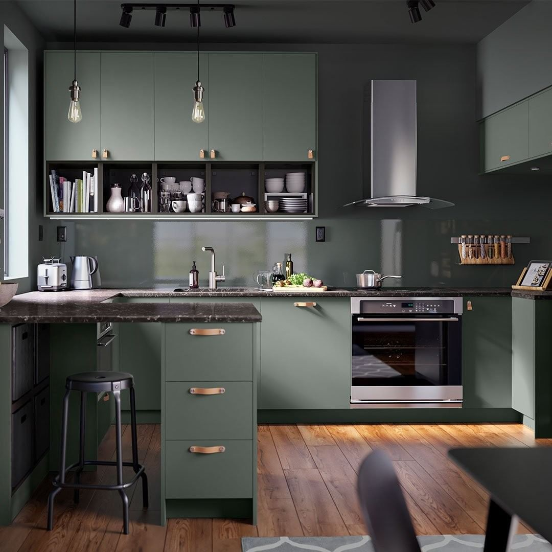 Ikea Usa On Instagram Give Your Kitchen A Gray Green Makeover With Our New Kitchen Fronts Offering A Mo Kitchen Design Ikea New Kitchen Modern Kitchen Design