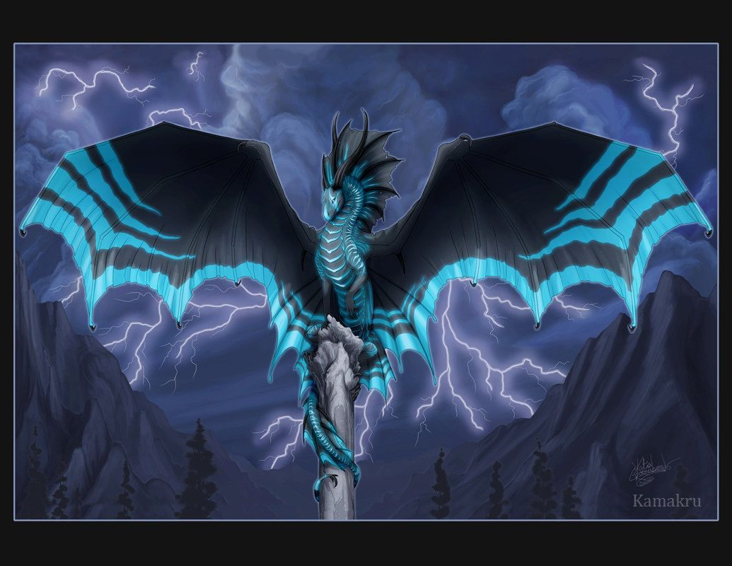 Lightning Dragon | Dragon Totem Lightning Print by Kamakru ... - photo#38