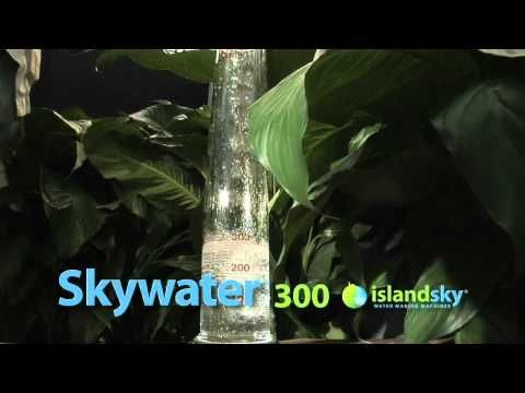 Skywater 300 This Atmospheric Water Generator Produces 1100 Liters Of Purified Drinking Water Dail Atmospheric Water Generator Water Generator Water From Air
