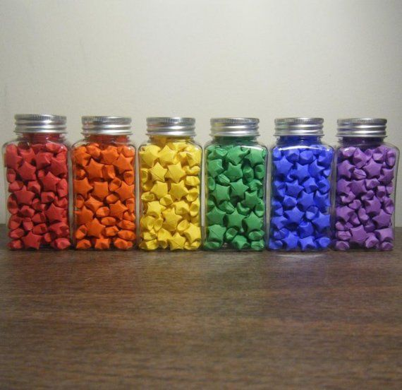 A Vibrant Rainbow Of Origami Lucky Stars View More And Strips At My Shop Link Over The