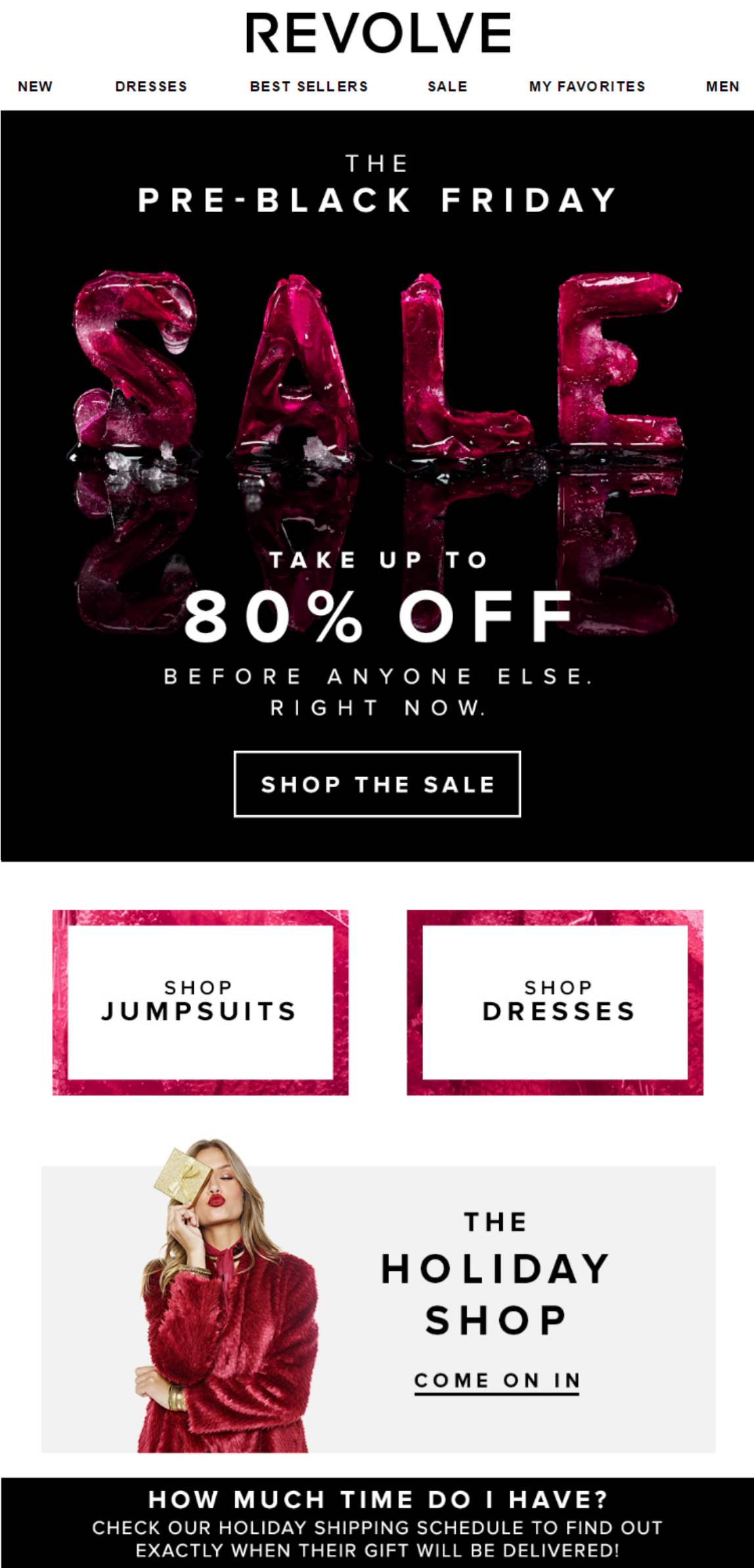 Sale Black Friday Black Friday Pre Sale From Revolve Email Concept Inspiration