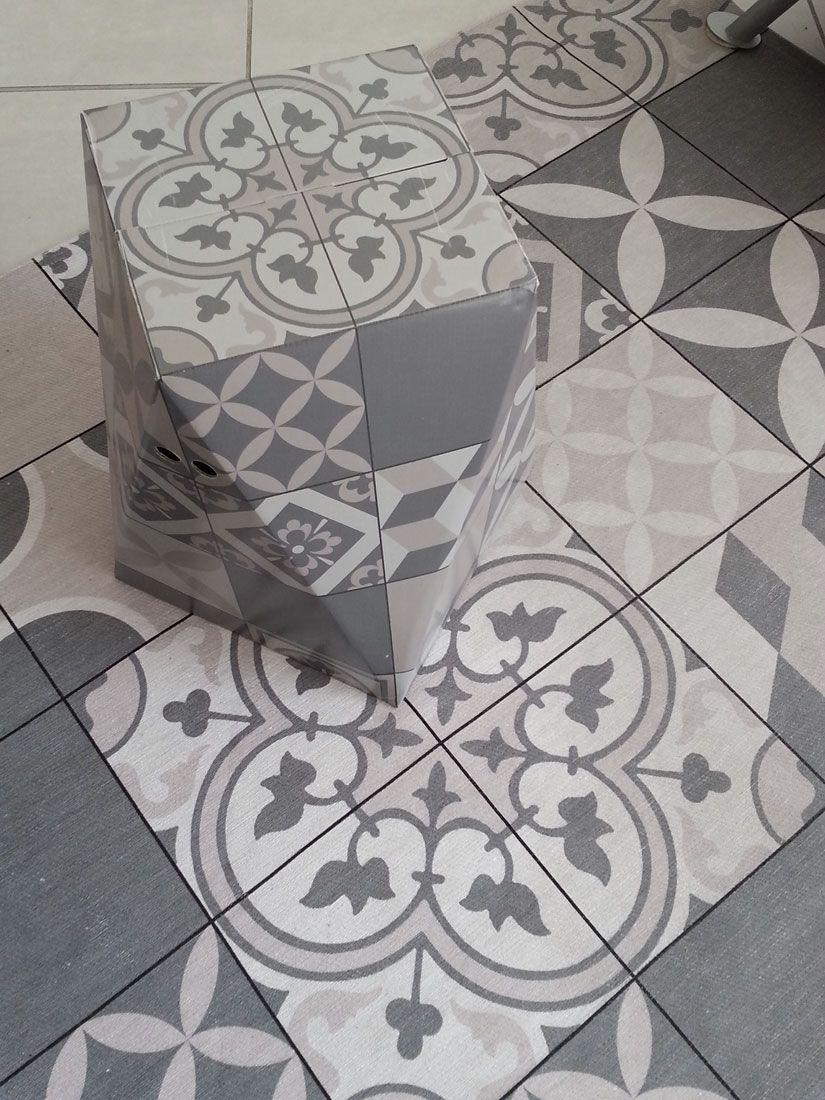 Tapis Effet Carreaux De Ciment tapis et tabouretfloor tiles imitation carreaux de ciment en