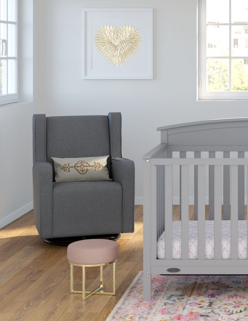 Magnificent A Glam Nursery For A Modern Princess Our Graco Remi Lamtechconsult Wood Chair Design Ideas Lamtechconsultcom
