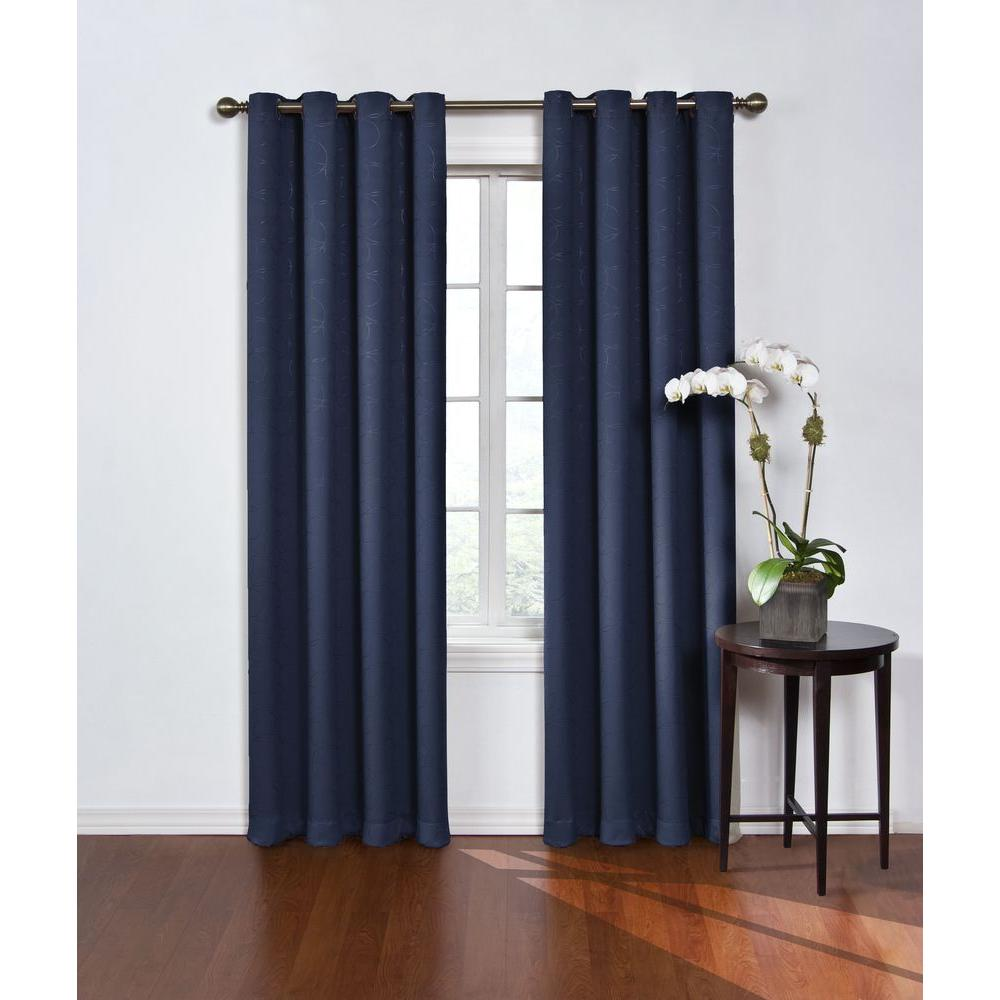 Eclipse Round And Round Blackout Window Curtain Panel In