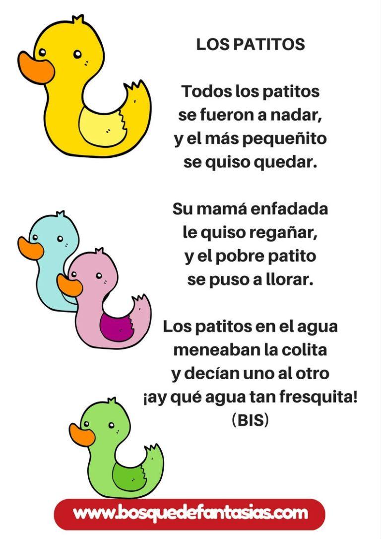 Cancion Los Patitos Canciones Infantiles Letras De Canciones Infantiles Canciones De Niños