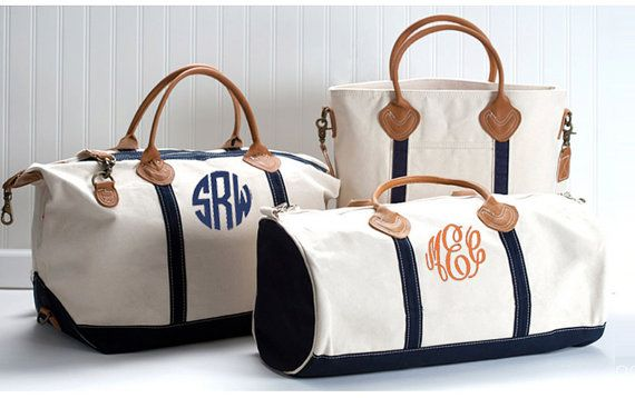 a3cdddbbec6 Monogram Canvas Round Duffle Bag Personalized by fourbugsinarug
