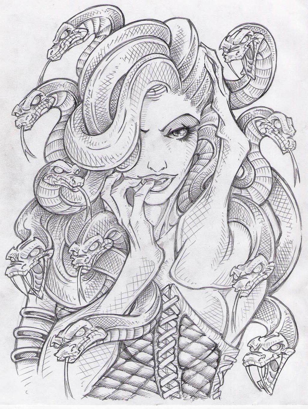 Resultado De Imagen Para Medusa Mitologia Tatuaje Significado Arte De Medusas Cómo Dibujar Cosas Arte Del Bosquejo