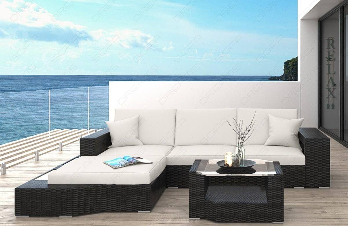 Pas 1647 Outdoor L Shaped Modern Garden Rattan Sofa Set Garden
