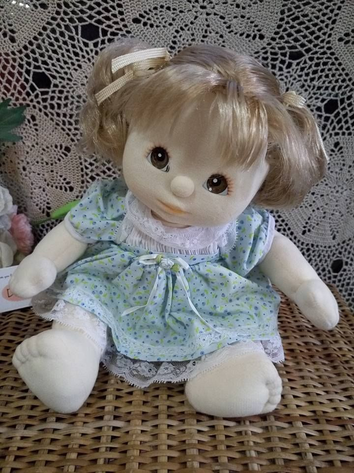 Mattel 1985 My Child Doll 14  Blonde Hair Brown Eyes